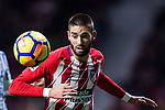 Yannick Ferreira Carrasco of Atletico de Madrid in action during the La Liga 2017-18 match between Atletico de Madrid and Real Sociedad at Wanda Metropolitano on December 02 2017 in Madrid, Spain. Photo by Diego Gonzalez / Power Sport Images