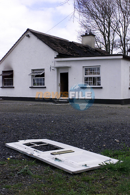 The Remains of the fitzsimons Family Home where the two children Died.Pic Fran Caffrey Newsfile.©Newsfile Ltd.