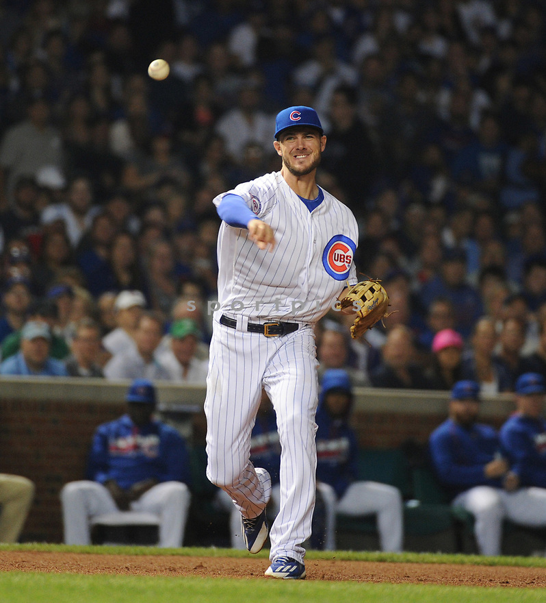 Chicago Cubs Kris Bryant (17) during a game against the Milwaukee Brewers on September 15, 2016 at Wrigley Field in Chicago, IL. The Brewers beat the Cubs 5-4.