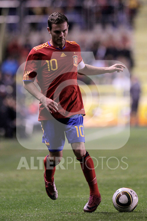 Spain's Juan Manuel Mata during UEFA Under21 Eurocup qualifying match.October 9,2010. (ALTERPHOTOS/Acero)