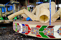 An unfinished allegorical float seen during the construction process in the Carnival workshop in Rio de Janeiro, Brazil, 19 February 2004.