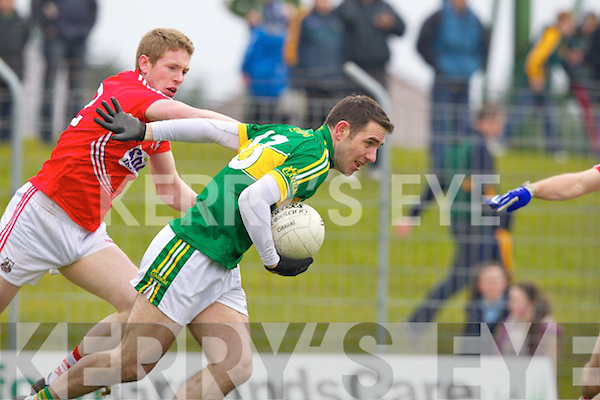 Declan O'Sullivan Kerry in action against Andrew O'Sullivan Cork in the National Football League at Austin Stack park, Tralee on Sunday.