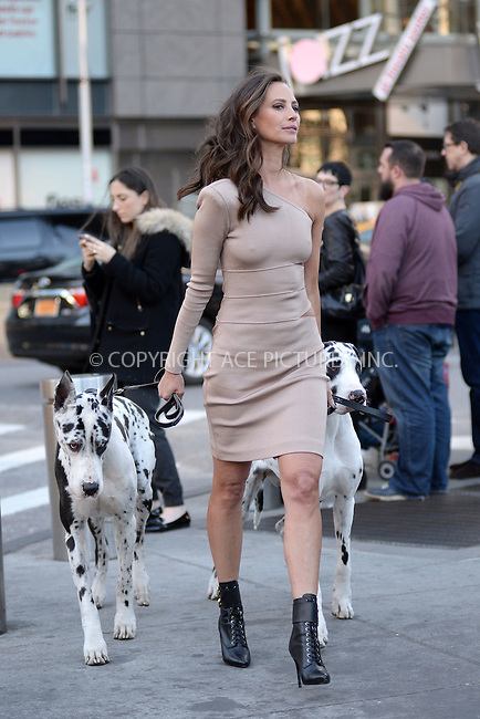 WWW.ACEPIXS.COM<br /> March 29, 2016 New York City<br /> <br /> Christy Turlington was seen at a photo shoot for Maybelline in Manhattan on March 29, 2016.<br /> <br /> <br /> Credit: Kristin Callahan/ACE Pictures<br /> <br /> Tel: (646) 769 0430<br /> e-mail: info@acepixs.com<br /> web: http://www.acepixs.com
