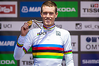 Picture by Alex Whitehead/SWpix.com - 26/09/2018 - Cycling - UCI 2018 Road World Championships - Innsbruck-Tirol, Austria - Elite Men's Time Trial - Rohan Dennis of Australia wins Gold.