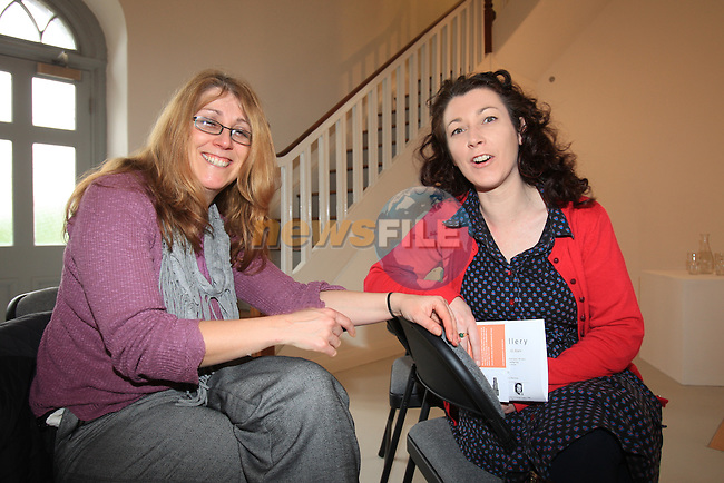 At the Highlanes Gallery reading for Adults.Edel Fairclough and Vivianne Byrne.Picture Fran Caffrey www.newsfile.ie