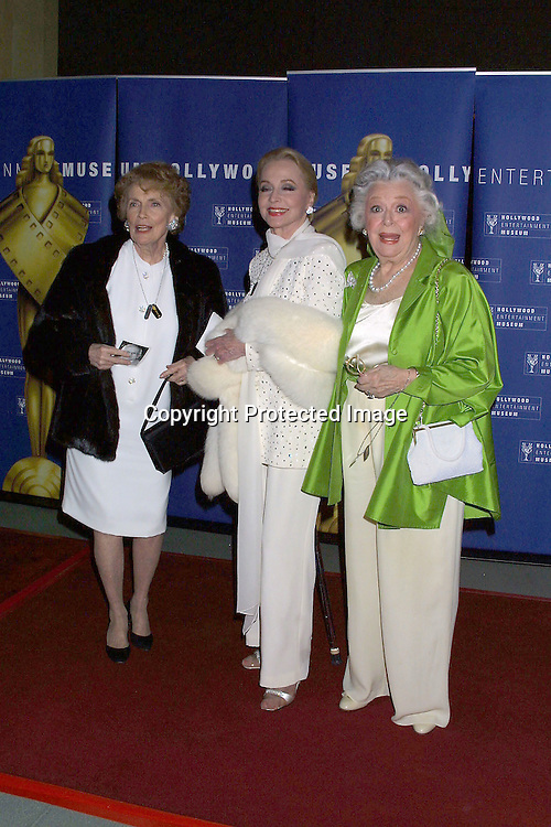 ©2003 KATHY HUTCHINS/ HUTCHINS PHOTO.JOHNNY GRANT 80TH BIRTHDAY AND LIFETIME ACHIEVEMENT.AWARD BY HOLLYWOOD ENTERTAINMENT MUSEUM.HOLLYWOOD, CA.MAY 10, 2003..JOAN LESLIE.ANNE JEFFREYS.ANN B RUTHERFORD