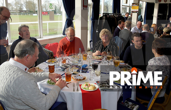 Pre-match hospitality ahead of the Greene King IPA Championship match between London Scottish Football Club and Yorkshire Carnegie at Richmond Athletic Ground, Richmond, United Kingdom on 28 January 2017. Photo by Alan  Stanford/PRiME Media Images.