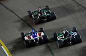 Ed Carpenter, Ed Carpenter Racing Chevrolet, Tony Kanaan, A.J. Foyt Enterprises Chevrolet, Graham Rahal, Rahal Letterman Lanigan Racing Honda,