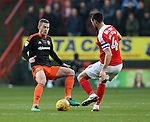 Charlton's Johnnie Jackson tussles with Sheffield United's Paul Coutts during the League One match at the Valley Stadium, London. Picture date: November 26th, 2016. Pic David Klein/Sportimage