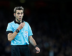 Referee Clement Turpin during the Europa League Semi Final 1st Leg, match at the Emirates Stadium, London. Picture date: 26th April 2018. Picture credit should read: David Klein/Sportimage