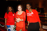 """Doris Taro (Chibok), Days of Our Lives Louise Sorel """"Vivian Alamain"""" and Evon Idahosa (Pathfinders Justice Initiative) support by attending the vigil for Bring Back Our Girls - 500 Days on August 27, 2015 at Church Center for the United Nations followed by a vigil at the Nigeria House in New York City, New York (Photo by Sue Coflin/Max Photos)"""