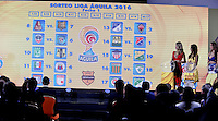 BOGOTA-COLOMBIA-21-01-2016: Calendario de la Primera fecha de los  partidos de fútbol de la Liga Aguila I 2016. / Calendar date of the first football games of the Liga Aguila I 2016. Photo: VizzorImage / Luis Ramirez / Staff.