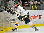9 January 2009: University of Vermont Catamounts' defenseman Josh Burrows, a Sophomore from Prairie Grove, IL, in action during the first game of a weekend series against the Boston College Eagles at Gutterson Fieldhouse in Burlington, Vermont. The Catamounts scored with one second remaining in regulation time to earn a 3-3 tie with the visiting Eagles. Mandatory Photo Credit: Ed Wolfstein Photo