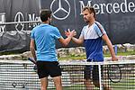 11.06.2019, Tennisclub Weissenhof e. V., Stuttgart, GER, Mercedes Cup 2019, ATP 250, Peter GOJOWCZYK (GER) vs Gilles SIMON (FRA)  <br /> <br /> im Bild Peter v. l. Gilles SIMON (FRA)  GOJOWCZYK (GER) nach Spielschluss am Netz<br /> <br /> Foto © nordphoto/Mauelshagen
