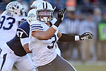 BYU linebacker Kyle Van Noy competes in an NCAA college football game against Nevada, in Reno, Nev., on Saturday, Nov. 30, 2013. (AP Photo/Cathleen Allison)