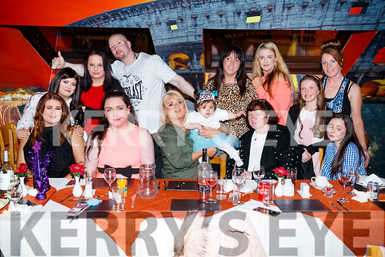 Skyler Coffey, Tralee, who celebrated her first birthday with her mother Linda Coffey and James Coffey at Ristorante Uno, on Saturday night last.