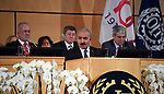 Palestinian Prime Minister Mohammad Ishtayeh gives a speech during the 108th session of the International Labour Conference - ILO Centenary Session, at the European headquarters of the United Nations in Geneva, Switzerland, June 12, 2019. Photo by Prime Minister Office