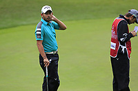 Pablo Larrazabal (ESP) on the 9th green during Saturday's Round 3 of the 2017 Omega European Masters held at Golf Club Crans-Sur-Sierre, Crans Montana, Switzerland. 9th September 2017.<br /> Picture: Eoin Clarke | Golffile<br /> <br /> <br /> All photos usage must carry mandatory copyright credit (&copy; Golffile | Eoin Clarke)