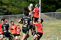 James MOORE (ジェームス・ムーア) in action during the Hurricanes Hinters v Wolfpack at Jerry Collins Stadium, Porirua, New Zealand on Friday 29 March 2019. <br /> Photo by Masanori Udagawa. <br /> www.photowellington.photoshelter.com