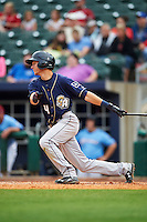 San Antonio Missions shortstop Trea Turner (4) at bat during a game against the NW Arkansas Naturals on May 30, 2015 at Arvest Ballpark in Springdale, Arkansas.  San Antonio defeated NW Arkansas 5-2.  (Mike Janes/Four Seam Images)