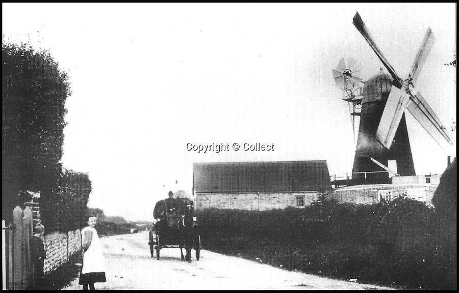 BNPS.co.uk (01202 558833)<br /> Pic: Collect/BNPS<br /> <br /> Barnham Windmill, West Sussex, in 1905.<br /> <br /> Buyers will need some serious dough to get their hands on this historic converted windmill - because it comes with a £650,000 price tag.<br /> <br /> The iconic 19th century mill has long been a landmark in Barnham, West Sussex, but its future came under threat when it shut its doors for good in 2005.<br /> <br /> However new life has been breathed back into the celebrated building after it was saved at the eleventh hour and transformed into a unique residential property.