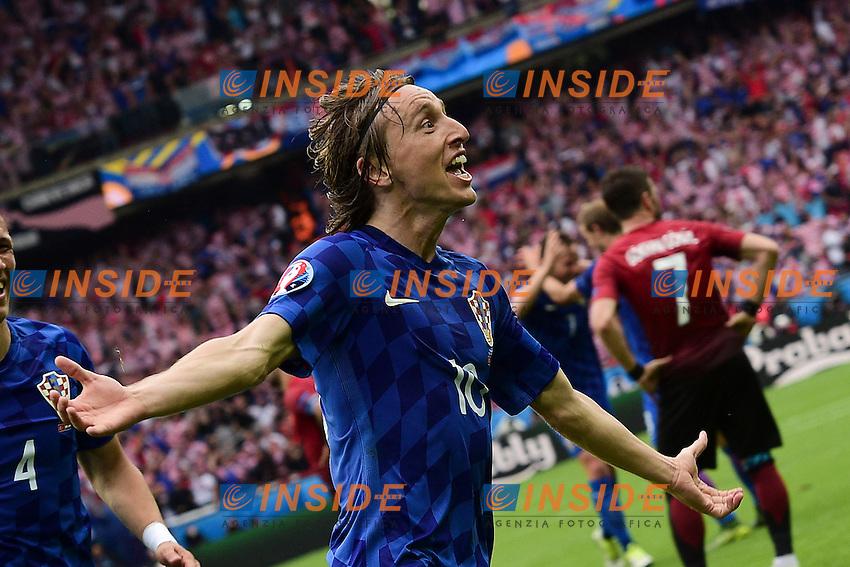 Luka Modric (Croatia) Esultanza Gol. Goal celebration <br /> Paris 12-06-2016 Parc des Princes Football Euro2016 Turkey - Croatia / Turchia - Croazia Group Stage Group D. Foto Panoramic / Insidefoto