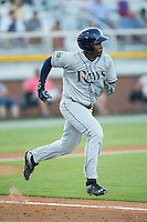Blake Grant-Parks (24) of the Princeton Rays hustles down the first base line against the Burlington Royals at Burlington Athletic Stadium on August 12, 2016 in Burlington, North Carolina.  The Royals defeated the Rays 9-5.  (Brian Westerholt/Four Seam Images)