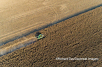 63801-12518 Harvesting corn in fall-aerial  Marion Co. IL
