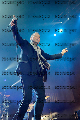 "SIMPLE MINDS - Vocalist Jim Kerr - performing live on the ""Greatest Hits +"" Live Tour at the O2 Arena in London UK - 30 Nov 2013.  Photo credit6: George Chin/IconicPix"