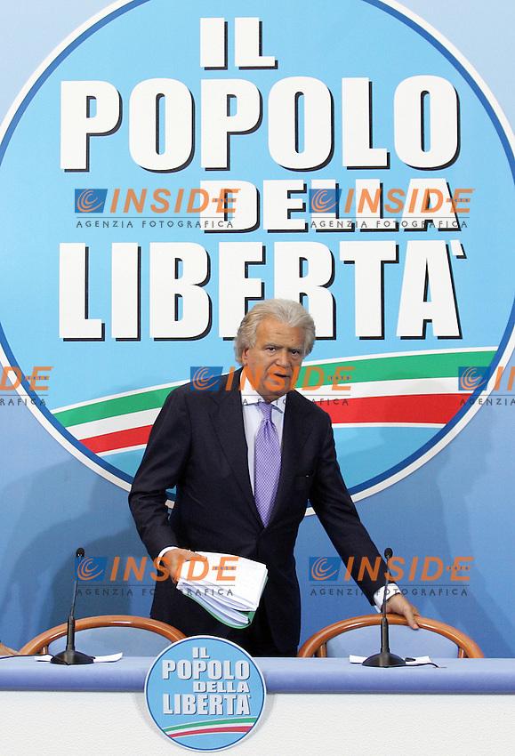 Denis Verdini .Sede del Popolo della Liberta' - Conferenza stampa del Coordinatore del PdL..Roma, 28 Luglio 2010.Photo Serena Cremaschi Insidefoto
