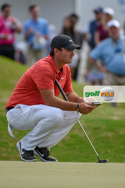Patrick Reed (USA) looks over his putt on 15 during day 2 of the WGC Dell Match Play, at the Austin Country Club, Austin, Texas, USA. 3/28/2019.<br /> Picture: Golffile | Ken Murray<br /> <br /> <br /> All photo usage must carry mandatory copyright credit (© Golffile | Ken Murray)