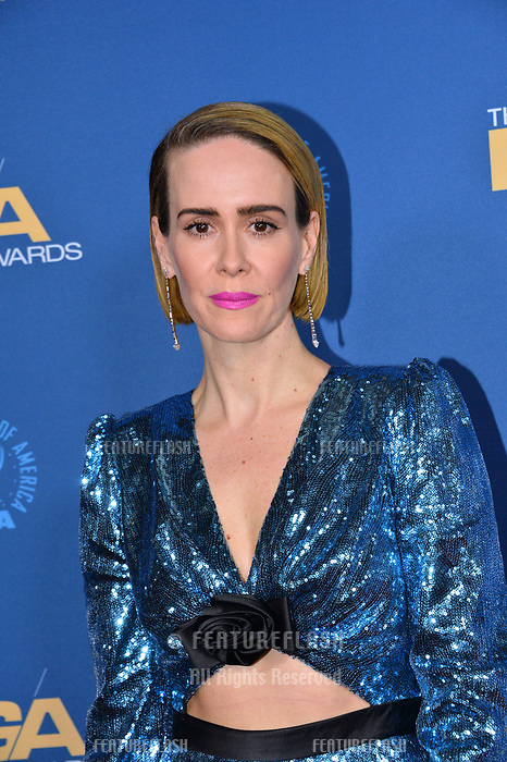 LOS ANGELES, CA. February 02, 2019: Sarah Paulson at the 71st Annual Directors Guild of America Awards at the Ray Dolby Ballroom.<br /> Picture: Paul Smith/Featureflash