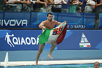 ESPOSITO Umberto ITALY celebrates the victory of the gold metal <br /> Napoli 14-07-2019 Piscina Scandone <br /> Napoli 2019 30th Summer Universiade 3 - 14 July 2019<br /> ITALY - USA <br /> Water Polo Men Final <br /> Photo Cesare Purini / Insidefoto