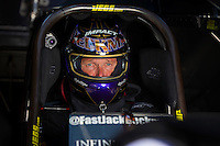 Sep 6, 2015; Clermont, IN, USA; NHRA funny car driver Jack Beckman during qualifying for the US Nationals at Lucas Oil Raceway. Mandatory Credit: Mark J. Rebilas-USA TODAY Sports