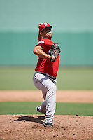 Boston Red Sox pitcher Enmanuel De Jesus (88) during an Instructional League game against the Minnesota Twins on September 23, 2016 at JetBlue Park at Fenway South in Fort Myers, Florida.  (Mike Janes/Four Seam Images)