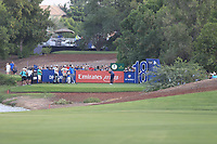 Danny Willett (ENG) on the 18th tee during the 2nd round of the DP World Tour Championship, Jumeirah Golf Estates, Dubai, United Arab Emirates. 16/11/2018<br /> Picture: Golffile | Fran Caffrey<br /> <br /> <br /> All photo usage must carry mandatory copyright credit (© Golffile | Fran Caffrey)