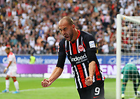 celebrate the goal, Torjubel zum 1:1 Ausgleich Bas Dost (Eintracht Frankfurt) - 01.09.2019: Eintracht Frankfurt vs. Fortuna Düsseldorf, Commerzbank Arena, 3. Spieltag<br /> DISCLAIMER: DFL regulations prohibit any use of photographs as image sequences and/or quasi-video.