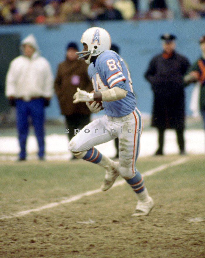Houston Oilers Billy Johnson (84) during a game from his 1976 season with the Houston Oilers. . Billy Johnson played for 14 years with 3 different teams and was a 3-time Pro Bowler.(SportPics)