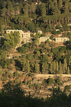 Israel, Jerusalem Mountains, St. John in the Desert monastery as seen from Sataf