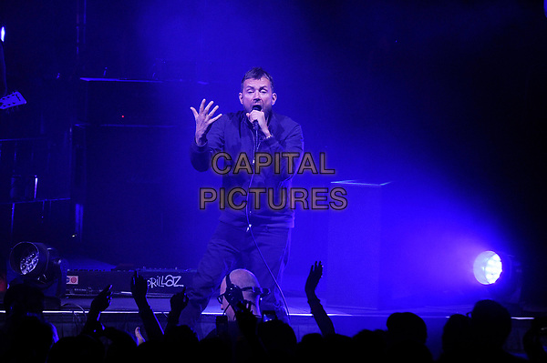 BRIGHTON, ENGLAND - NOVEMBER 27: Damon Albarn of 'Gorillaz' performing at Brighton Centre on November 27, 2017 in Brighton, England.<br /> CAP/MAR<br /> &copy;MAR/Capital Pictures