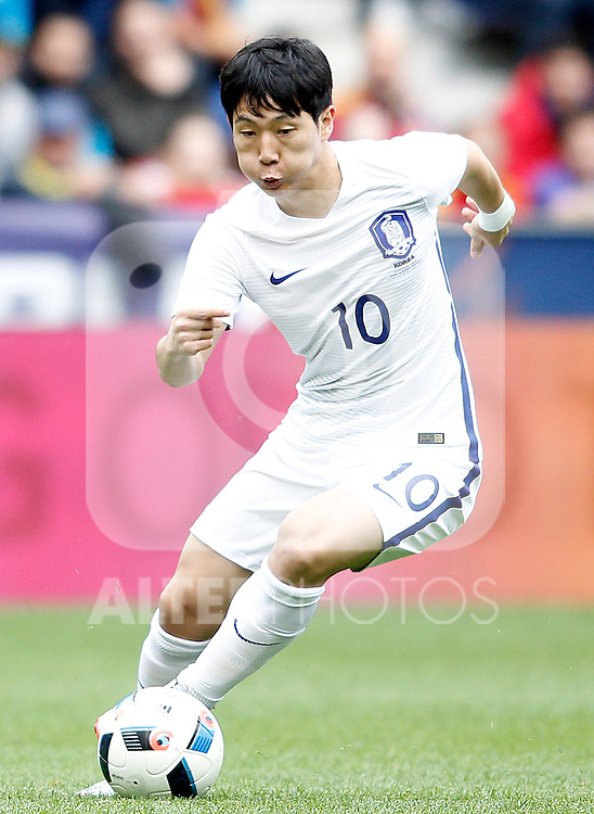 South Korea's Taehee Nam during friendly match. June 1,2016.(ALTERPHOTOS/Acero)