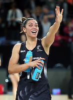 27.08.2016 Silver Ferns Grace Rasmussen in action during the Netball Quad Series match between teh Silver Ferns and England at Vector Arena in Auckland. Mandatory Photo Credit ©Michael Bradley.