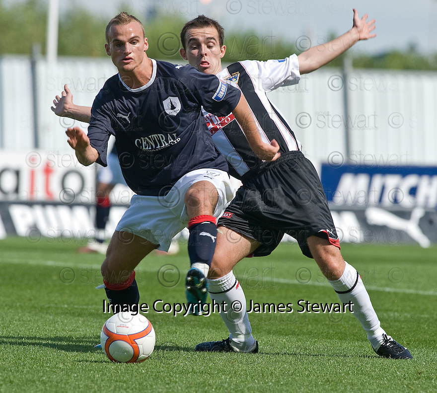 07/08/2010   Copyright  Pic : James Stewart.sct_jsp008_falkirk_v_dunfermline  .::  KALLUM HIGGINBOTHAM GETS AWAY FROM NICK PHINN  ::  .James Stewart Photography 19 Carronlea Drive, Falkirk. FK2 8DN      Vat Reg No. 607 6932 25.Telephone      : +44 (0)1324 570291 .Mobile              : +44 (0)7721 416997.E-mail  :  jim@jspa.co.uk.If you require further information then contact Jim Stewart on any of the numbers above.........