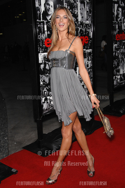 """Alessandra Ambrosio at the season premiere of """"Entourage"""" at the Cinerama Dome, Hollywood..April 6, 2007  Los Angeles, CA.Picture: Paul Smith / Featureflash"""