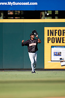 Jupiter Hammerheads center fielder Anfernee Seymour (26) catches a fly ball during the second game of a doubleheader against the Bradenton Marauders on May 27, 2018 at LECOM Park in Bradenton, Florida.  Jupiter defeated Bradenton 4-1.  (Mike Janes/Four Seam Images)