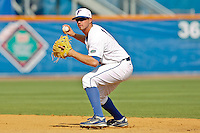 June 03, 2011:   Florida Gators inf Josh Adams (2) during NCAA Gainesville Regional action between Manhattan Jaspers  and Florida Gators played at Alfred A. McKethan Stadium on the campus of Florida University in Gainesville, Florida.  Florida defeated Manhattan 17-3.........