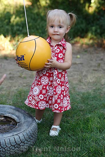 Ava Rogers and tetherball