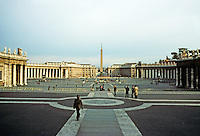 Italy: Rome--View of G.L. Bernini's Piazza from St. Peter's. Photo '82.