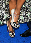 "Actress Meagan Good 's shoes at the Los Angeles Premiere of ""The Love Guru"" on June 11, 2008 at Grauman's Chinese Theatre in Hollywood, California."