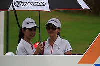 Taylor Made girls on the 1st tee during Saturday's storm delayed  Round 3 of the Iskandar Johor Open 2011 at the Horizon Hills Golf Resort Johor, Malaysia, 19th November 2011 (Photo Eoin Clarke/www.golffile.ie)